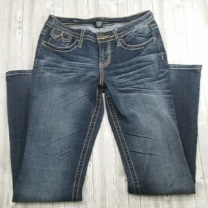 {T5} A.N.A Dark Stonewash Jeans Womens Size 4